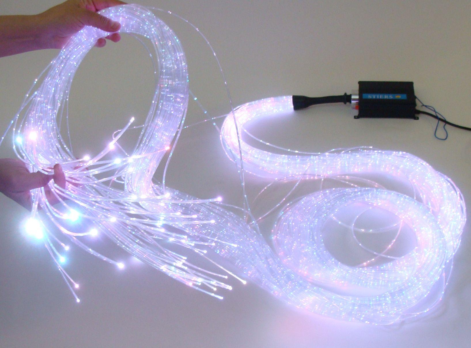 Lichtfaserset Glasfaser Sternenhimmel Lichtleiter Sidelight